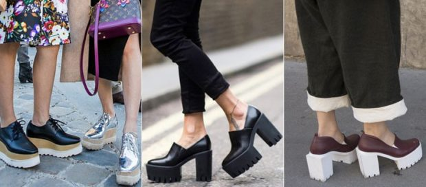 туфли на тракторной подошве с чем носить под юбки под штаны под кюлоты