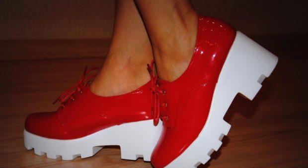 туфли на тракторной подошве с чем носить под платье или юбку