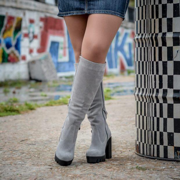 замшевая обувь на тракторной подошве с чем носить под юбку короткую