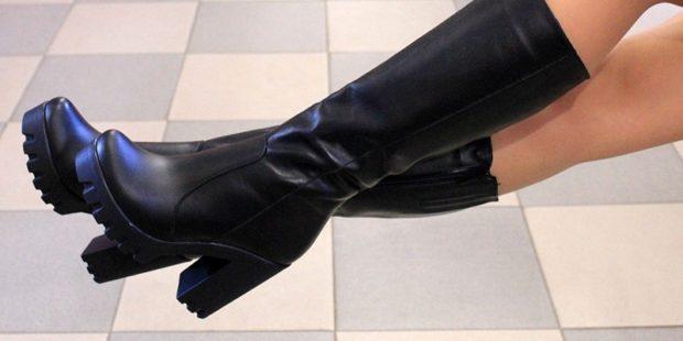 черные сапоги