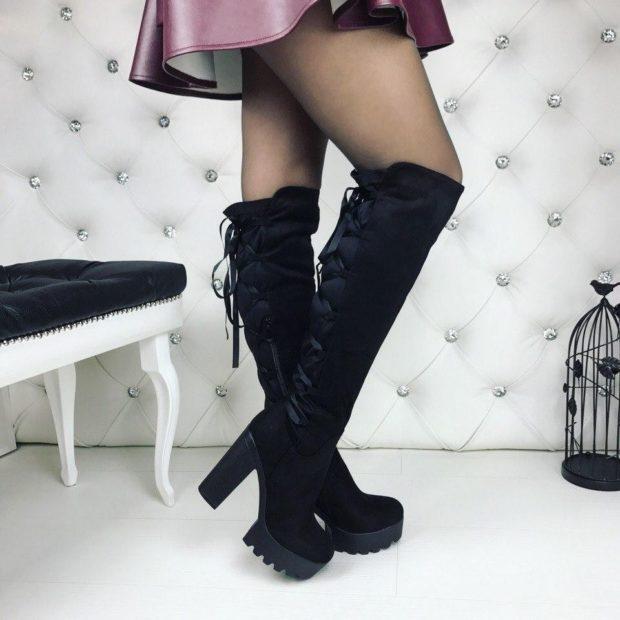 обувь на тракторной подошве с чем носить под юбку