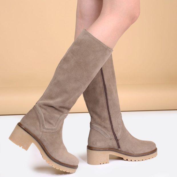 замшевая обувь на тракторной подошве с чем носить под юбку