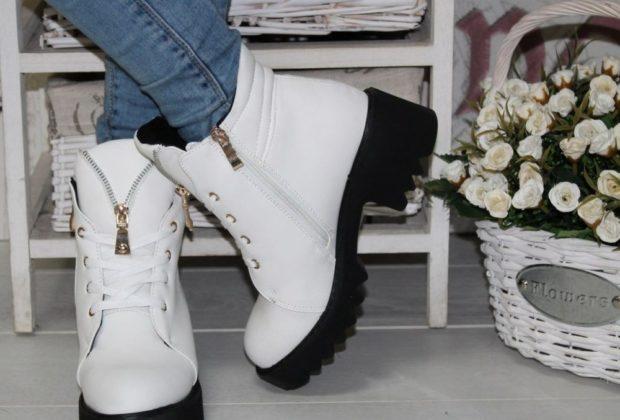 с чем носить обувь на тракторной подошве: под джинсы
