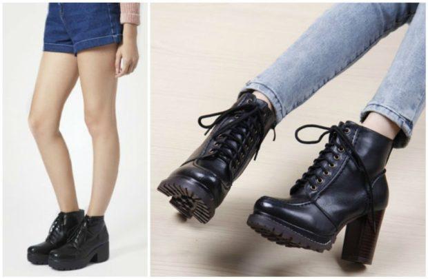 обувь на тракторной подошве с чем носить под шорты под джинсы