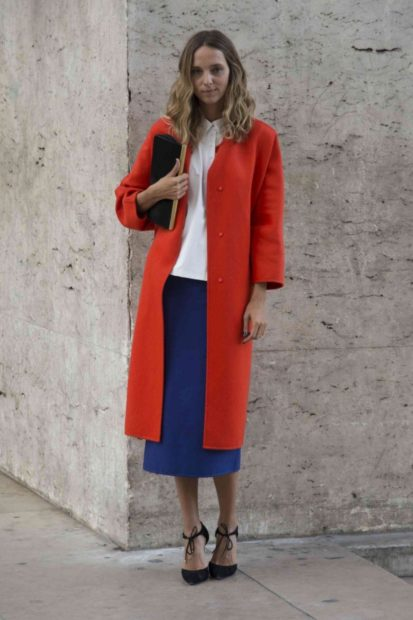 пиджаки 2018 красный удлиненный