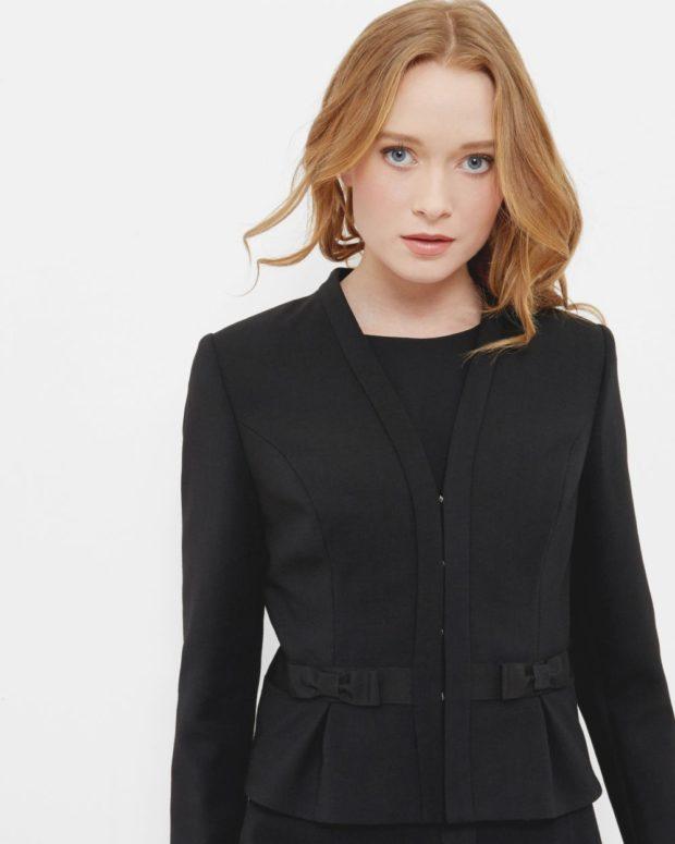 пиджаки женские модные: черный короткий