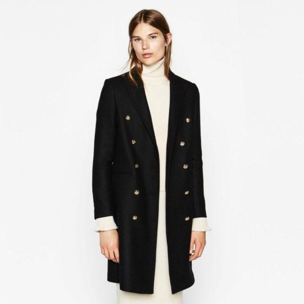пиджаки женские модные: черный удлиненный