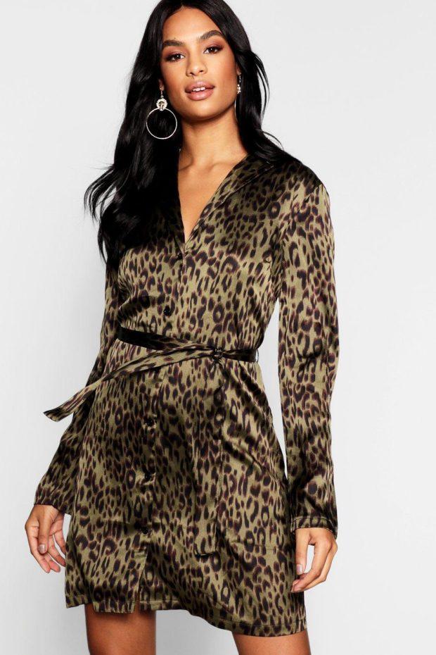 платья на каждый день 2019-2020: леопардовый принт