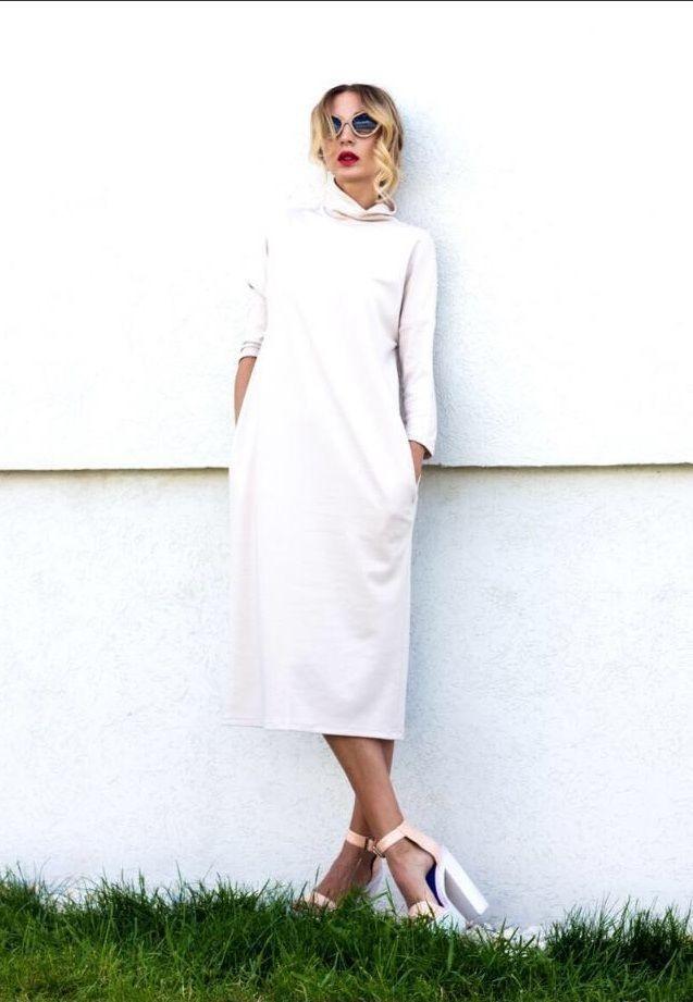 платья на каждый день 2019 2019 года платье белое длина миди