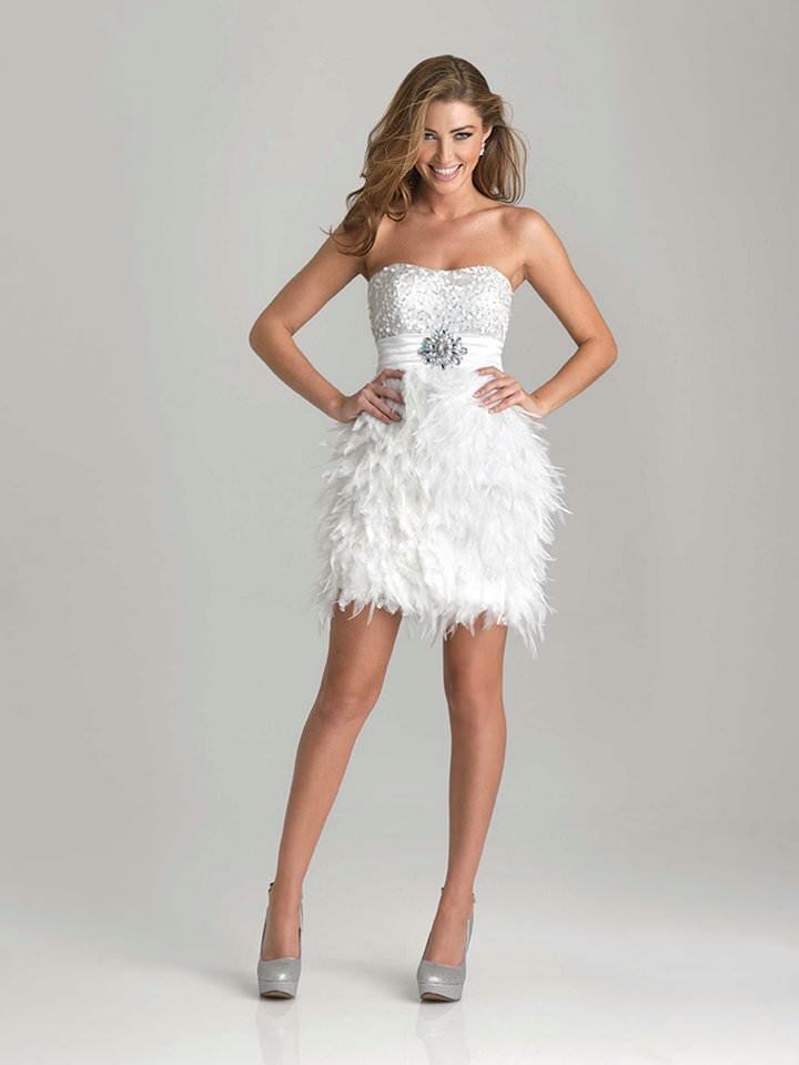 платья на каждый день 2019 2019 года платье белое бюстье с перьями