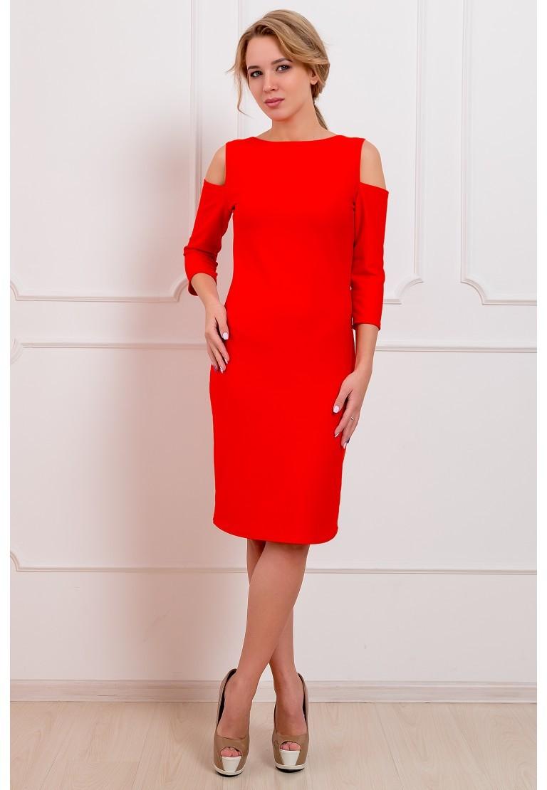платья на каждый день 2019 2019 года платье с открытыми плечами красное