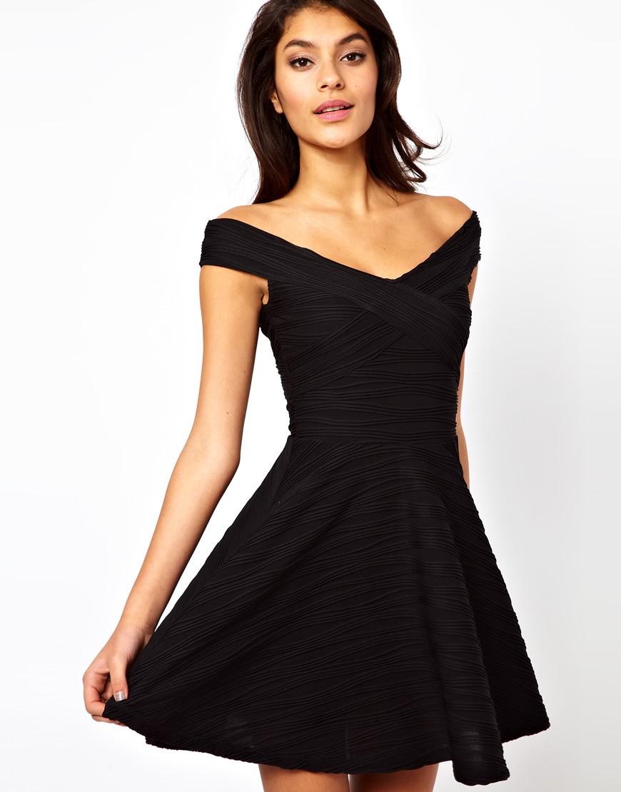 платья на каждый день 2019 2019 года платье с открытыми плечами черное