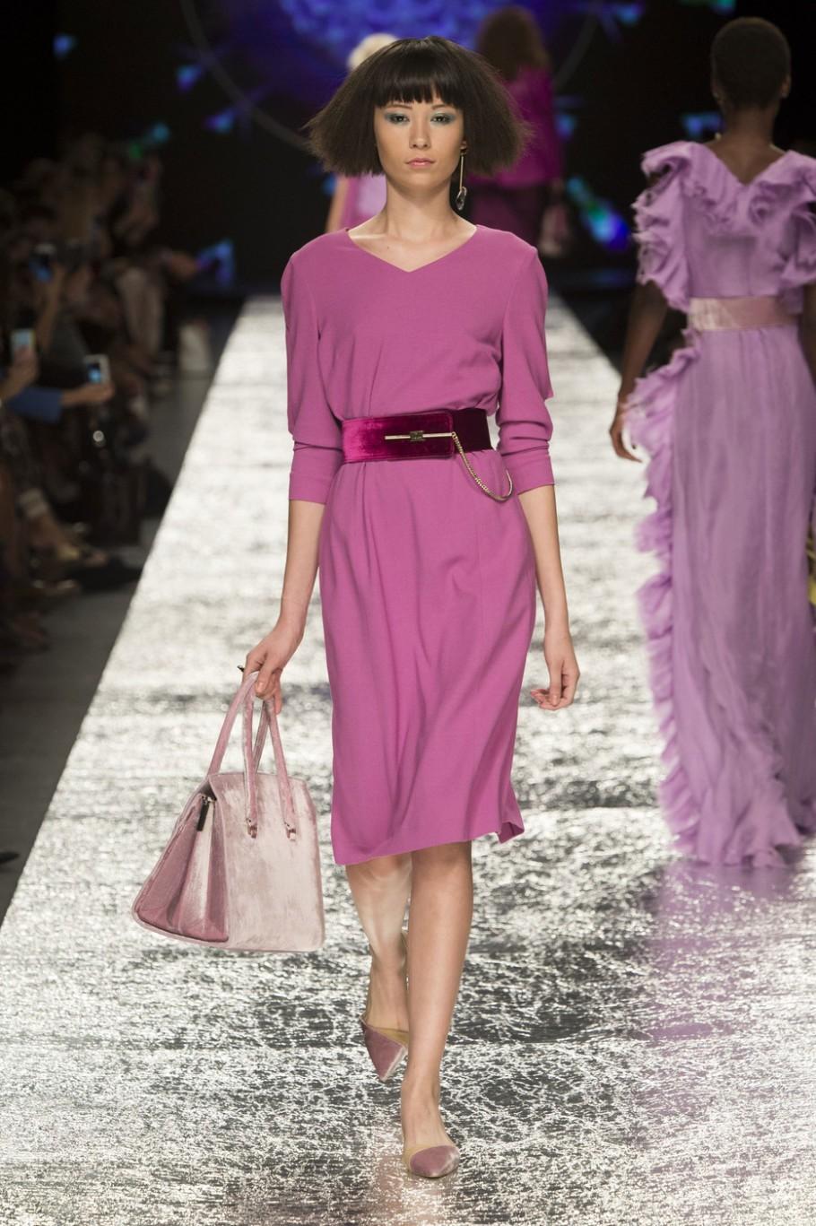платья на каждый день 2019 2019 года платье фиолетовое длина миди рукав 3/4