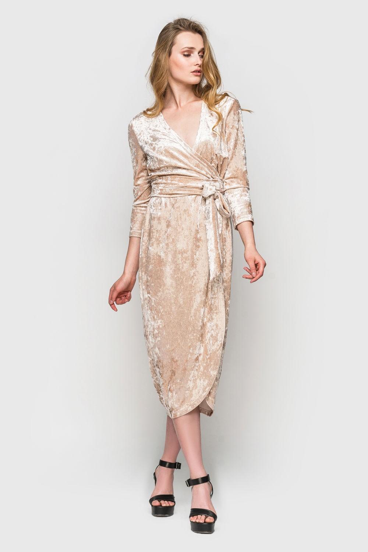 платья на каждый день 2019 2019 года платье с запахом бархатное светлое