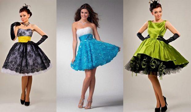 платья на выпускной: стиль 50-х годов