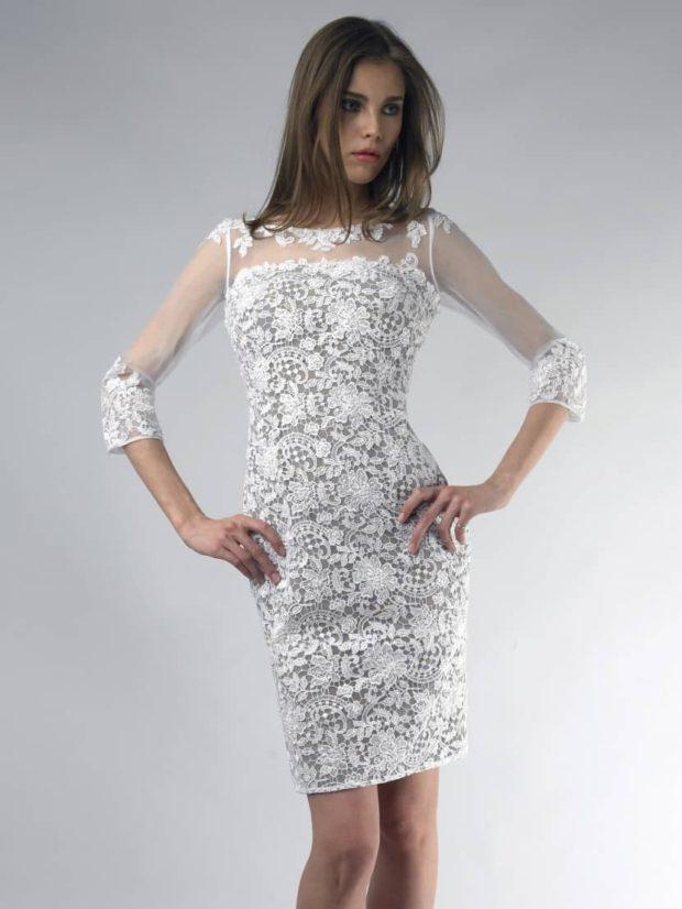 платья на выпускной: по фигуре с гипюром