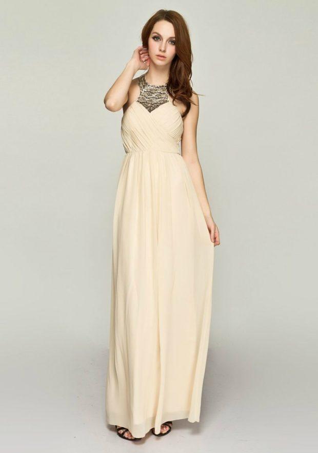 платье для выпускного: белое в пол открытые плечи