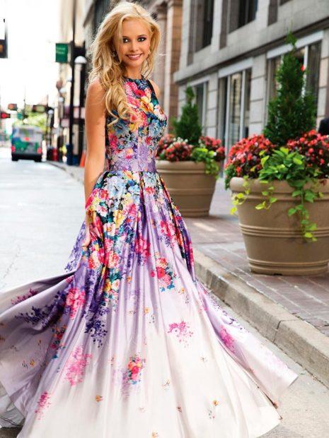 платья на выпускной 2018 в полн с цветами