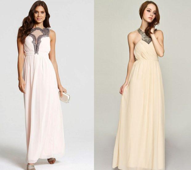 платье на выпускной: греческий стиль белые