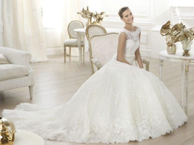 свадебная мода 2018-2019: белое пышное платье