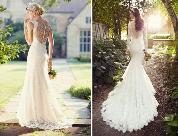 свадебная мода 2018-2019: платья с открытой спиной длинные