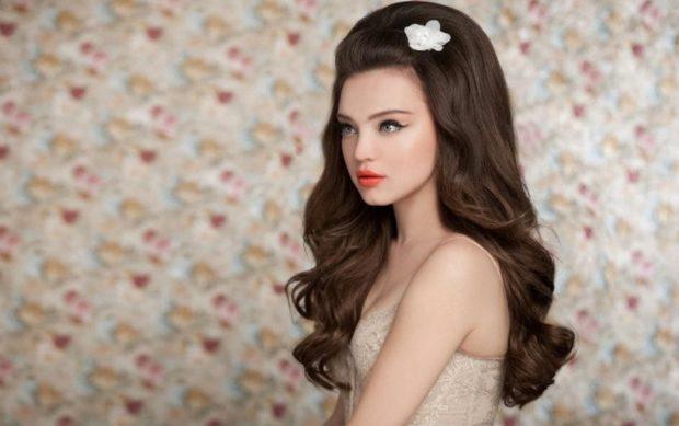свадебная мода 2018-2019: начес на всю длину волос