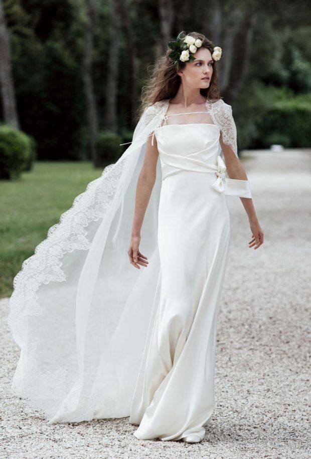 свадебная мода: накидка на плечи длинная