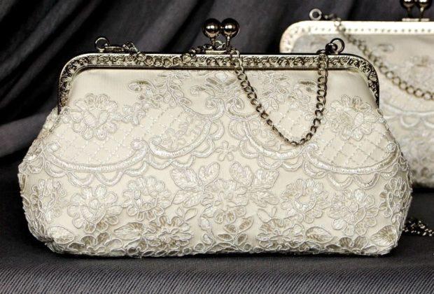 свадебная мода: сумочка на застежке с узором