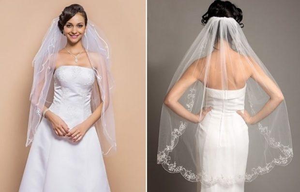свадебная мода: фата короткая