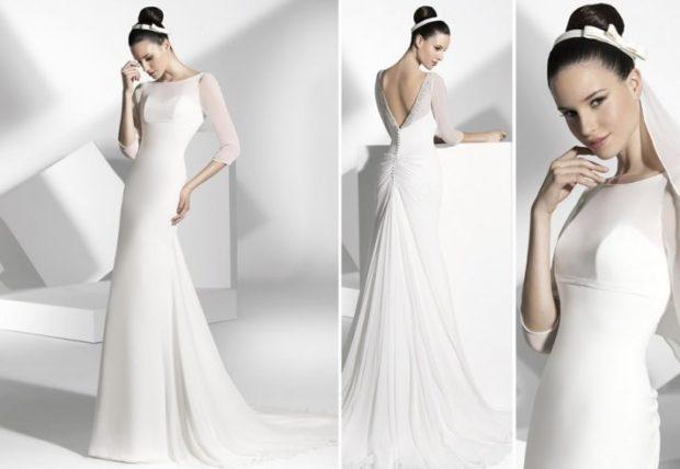 свадебная мода 2018-2019: платье белое по фигуре