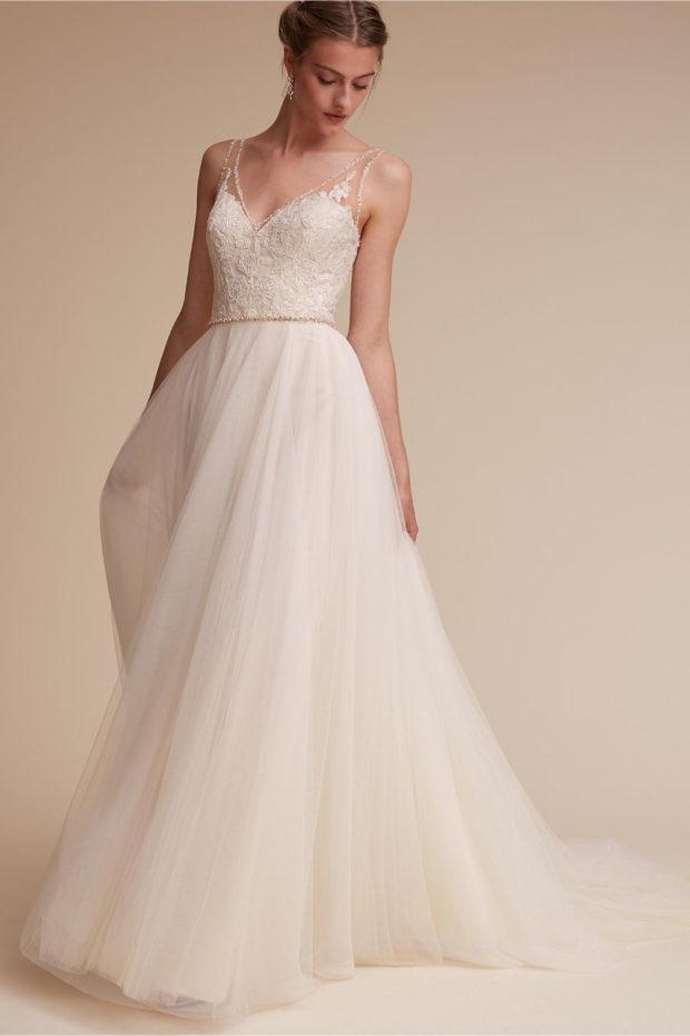 свадебная мода: платье белое пышная юбка
