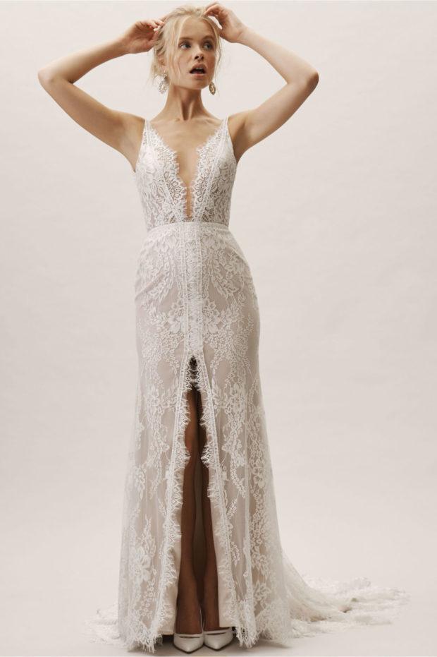 гипюровое платье белое