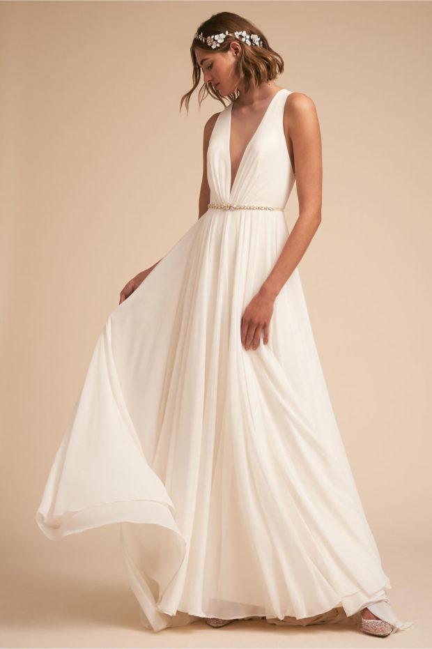 свадебная мода: платье белое в греческом стиле