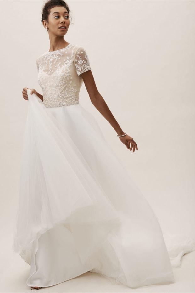 свадебная мода: гипюровое платье белое