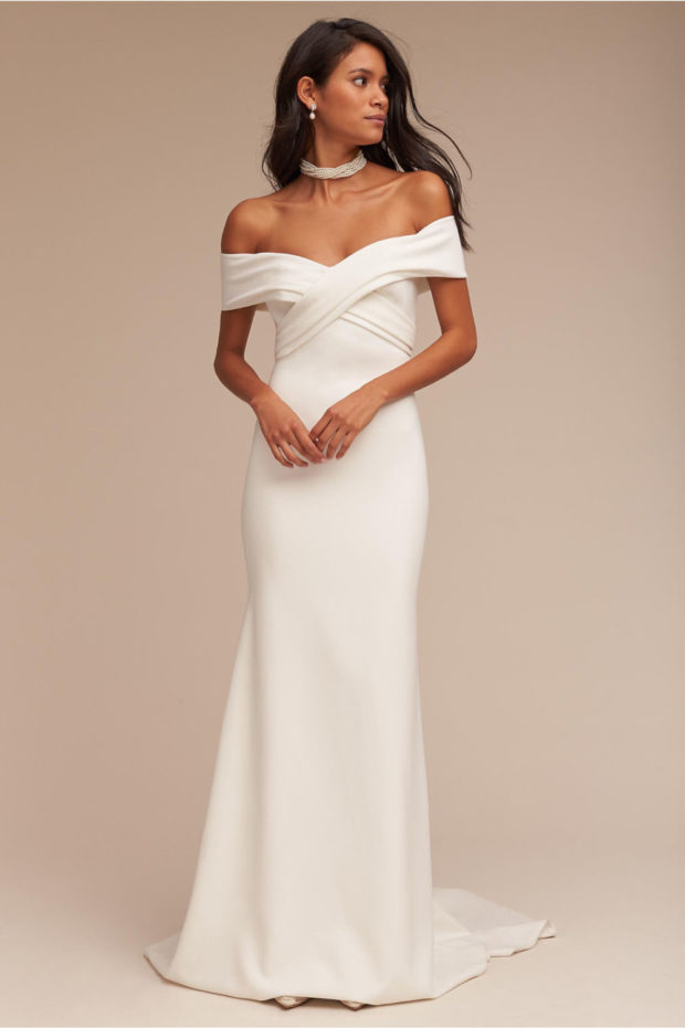 свадебная мода: платье белое русалка