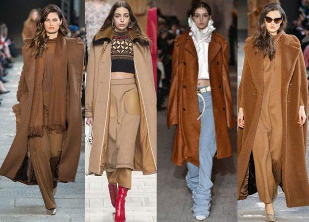 Тренды осень зима 2020-2021: коричневый стиль пальто