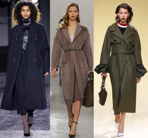 Тренды осень зима 2019: пальто классика синее серое зеленое