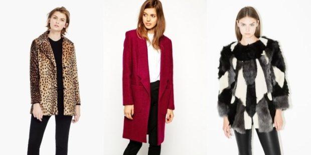 Тренды осень зима 2019: пальто короткое принт бордо пышное