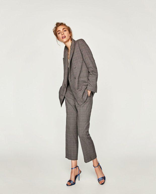 тренды: брючный костюм прямые брюки