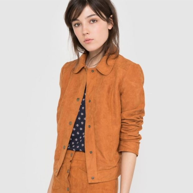 тренды: пиджак короткий коричневый