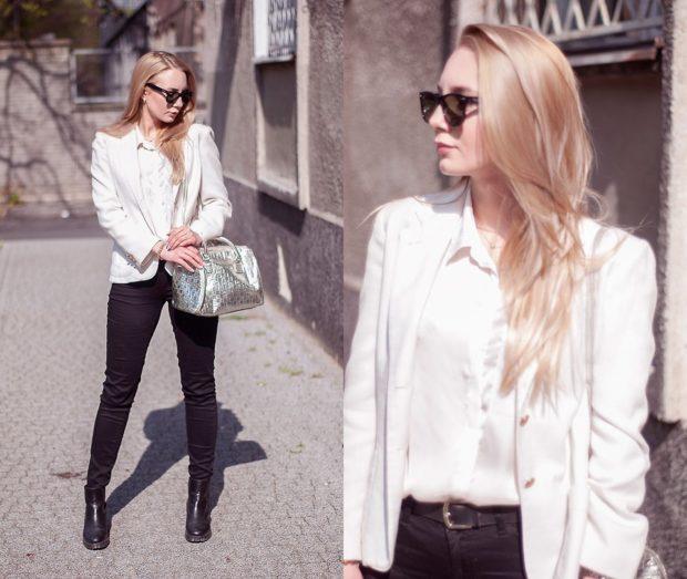 тренды: белый короткий пиджак