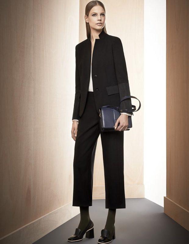 тренды: короткие черные брюки