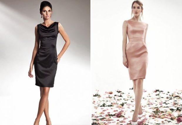 Тренды осень зима 2019: платья атласные