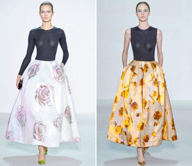 Тренды осень зима 2019: юбка Prada пышная