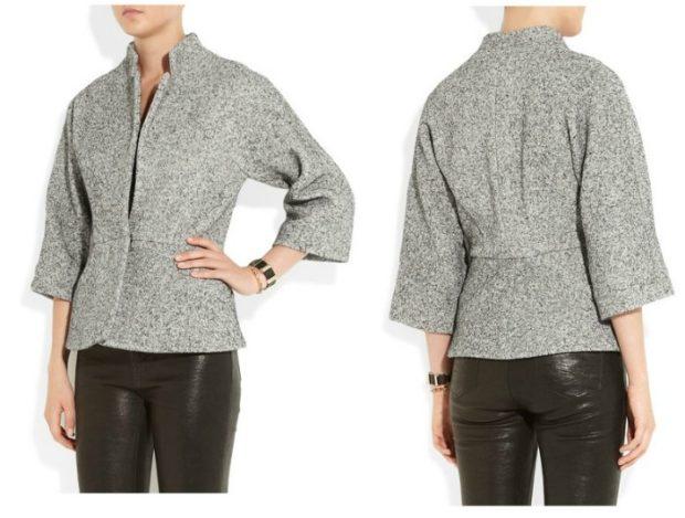 Тренды осень зима 2018 2019: пиджак шерстяной серый