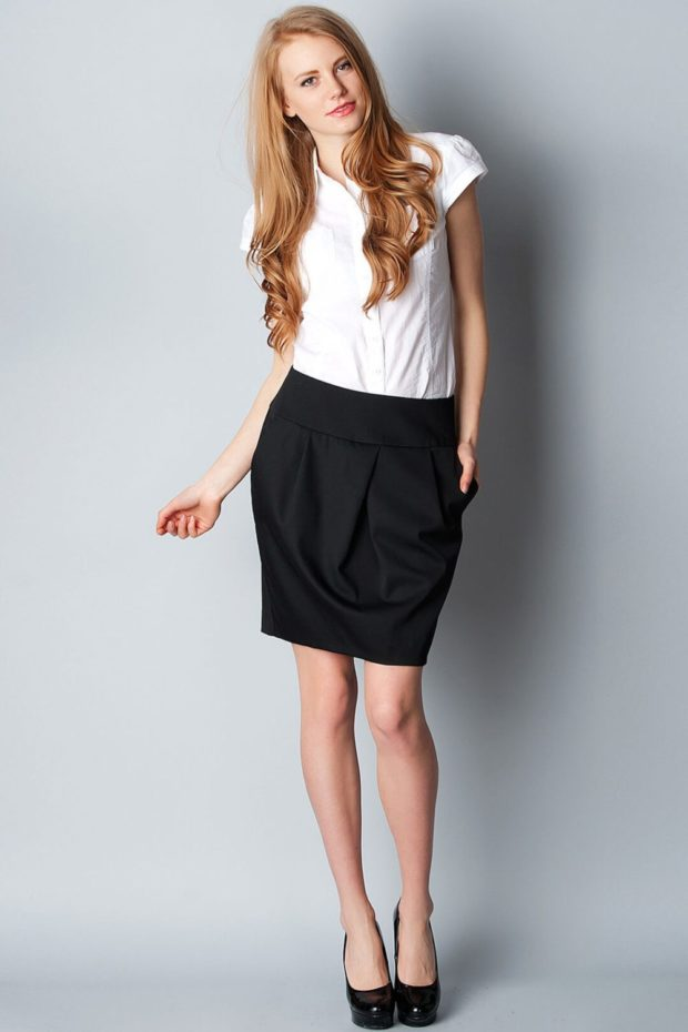 юбка футляр черная
