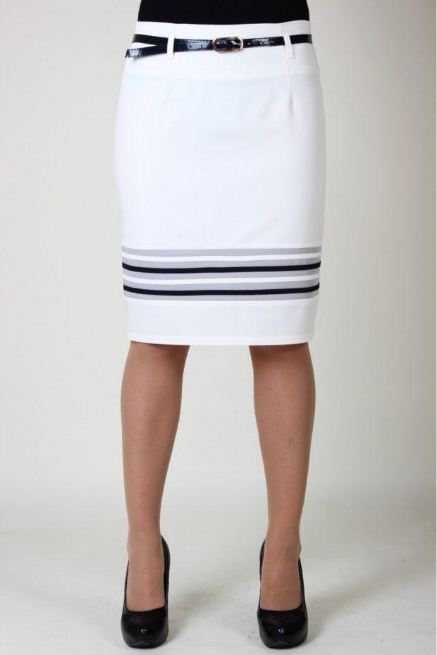юбка белая с полосками