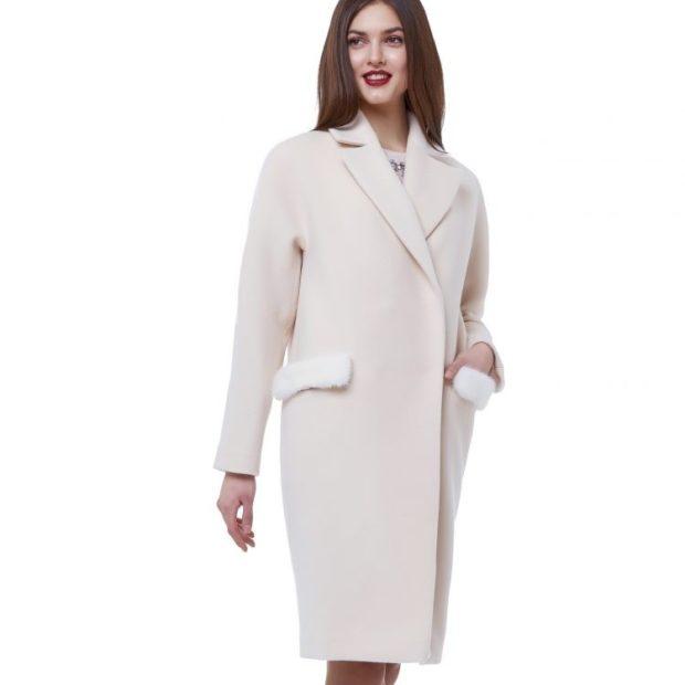 Тренды осень зима 2018 2019: пальто белое оверсайз