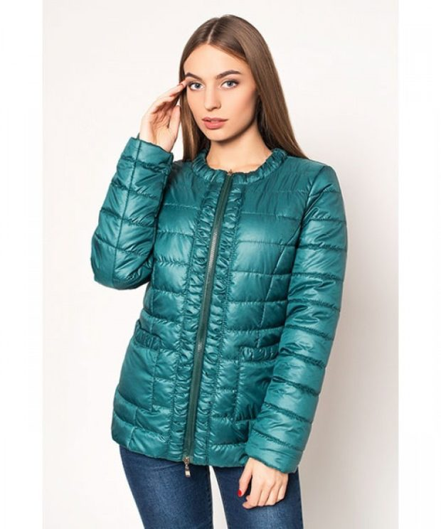 тенденции осени и зимы: куртка бирюза