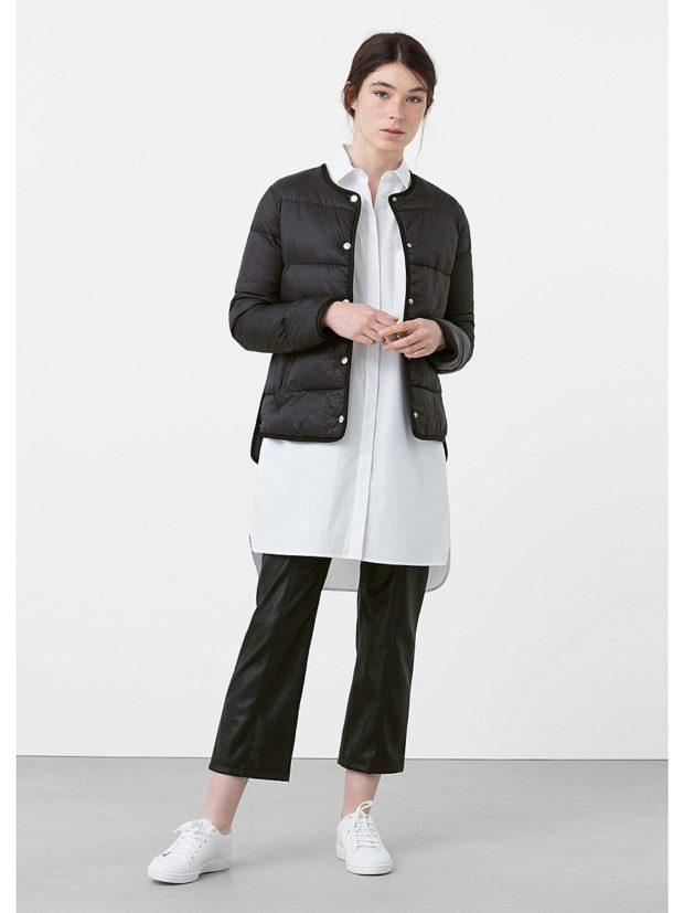 тренды: короткая курточка стеганая черная